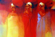 afrika schilderij