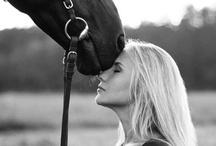 model met paard