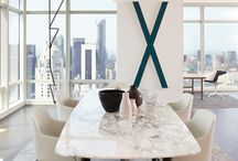 Dining rooms in marble carrara