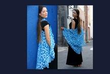 Rani's Circles / Beautiful Design & Handmade Versatile Circular Wraps in fine fabrics.