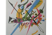 Kandinsky Abstract Art Tiles