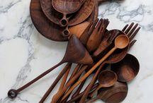 Wood kitchen items