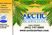 Arctic Air - About / Arctic Air Services, Inc. is a residential and commercial heating and cooling company centrally located to both Sarasota and Bradenton, FL, serving Manatee and Sarasota counties and beyond.
