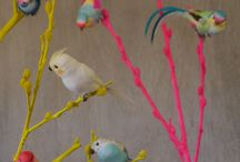 Birds / A feast of feather bird decorations to adorn your home , party and clothes!