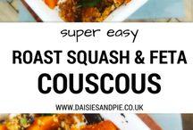 Butternut squash with couscous