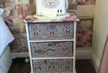 Diy shabby chic bedside tables