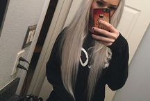 Hvitt hår