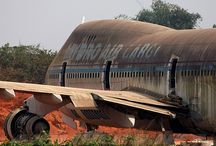 old abandoned air crafts