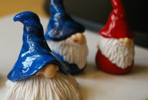 My handmade polymer fimo clay gnomes / wizards / handmade polymer fimo clay gnomes / wizards