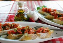 Appetizers / Tasty Bruschetta, salami and cheese that we can pair with our wonderful wines!