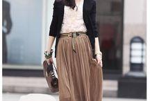 Long skirt fashion