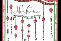 zentangle Weihnachten