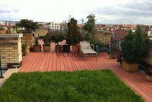 Realizace dřevěné terasy Hradčany / #woodparket #realizace #terasy #zahrada #dřevo #strechy