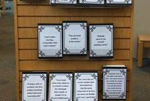Library Decor and Displays / Ideas for Library displays and decor