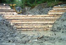 Defensas y diques de madera