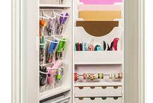 Materiais Organizados / Organização  de materiais de artezanato