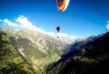 Paragliding Over Verbier / Add something new to your bucket list this year.  English speaking paragliding school in the Alps.  BHPA courses in Switerland. Tandem flights.  Beginner and advanced courses.