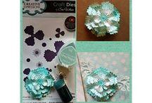 Blumen erstellen und gestalten / Blumen mit Papier, Filz,  diverse Schablonen und Stempelmotiven erstellen