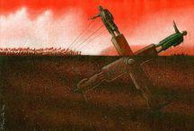 Pawel Kuczynski / Le illustrazioni di Pawel Kuczynski ci immergono in un mondo contraddittorio, quello in cui viviamo. A una prima occhiata possono sembrarci divertenti, ma poi, riflettendo, mostrano i problemi e le contraddizioni del mondo moderno.