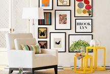 Gallery Wall Inspiration / Decor inspiration. Inspiração para galeria de parede.
