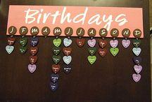 birthday tavle