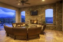Outdoor Living / Indoor-outdoor living in San Diego is a must for every home we build!  Enjoy the coastal breezes and beautiful sunsets while relaxing or dining in comfort in an outdoor veranda room.