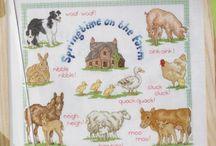 Cross stitch ~ Farm animals