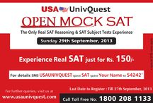 Open Mock SAT Test / USA UnivQuest – A FiitJee Initiative, offers Open Mock SAT Test for students aspiring to go to USA/Canada for their Undergraduate studies.