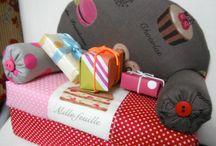 プリティソファー / まるでパッチワークのような、色とりどりな布で作った その名のとうりプリティなソファーです。