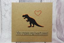 Dinosaurs, including T-Rex on cards, gifts, home decor and accessories