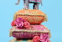 wedding & mehndi cake idea's