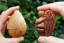 Arte com Caroço de Abacate Avocado Pit Art