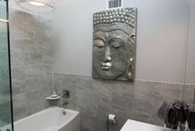 Halpern - Zen Bathroom / This is a great example of how you can create a tranquil, Zen experience right in the comfort of your very own home. These particular clients wanted a retreat like environment to come home to. The bathroom selections and accessories were carefully chosen to reflect their vision of serenity. Everything really came together in one cohesive theme.  As always, we are really proud of this bathroom renovation. Check out the image gallery for more details. #OZGC