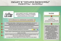 Zmiany w Ustawie Śmieciowej  / Infografiki związane ze zmianami w ustawie śmieciowej