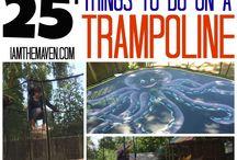 trampoline en meer