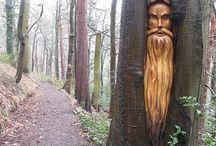 Sculpture dans arbre