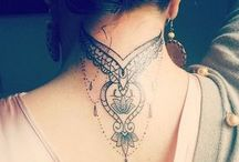 tattoo on the neck birdle