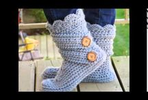 videos pantuflas a  crochet