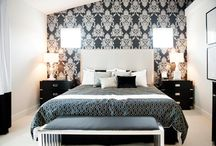Monochrome Bedroom Scheme / Stylish and modern monochrome bedroom