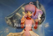 Creamy Mami Final Stage / FandomKastom scale 1/7, height 22 cm. Totally resin, created exclusively to celebrate Creamy Mami on his thirtieth anniversary. The model includes microphone and Posi and Nega. You WILL BE REACHED AT LEAST 5 RESERVATIONS WILL CREATE COPIES. https://www.facebook.com/FandomKastom/