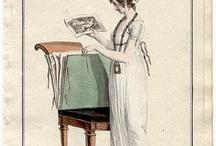 plansze kostiumow 1790-1810