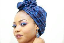 Ankara inspired makeup