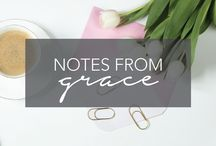 Notes From Grace | Happy Grace for Lifestyle Health & Wellness / Grace is every woman. She's your sassy BFF. She's your wise co-worker. She's your quirky sister. She's the kind woman at yoga. She's the committed mom at school. She's the gal who runs marathons and travels regularly. She's the girl you want to have cocktails with and the person you trust with your deepest desires. She's you.