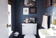 Bathrooms in blue