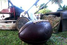 MVP Handmade Designer Leather American Football / Luxury hand-made vintage inspired leather American Football by The Modest Vintage Player.
