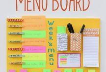 weekly menu plans / by Diana Bryant