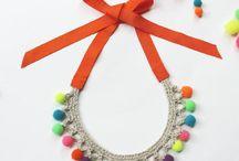 Basic Crochet Necklace and Pompom