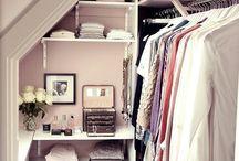 inloopkasten / Walk in closet, inspiratie