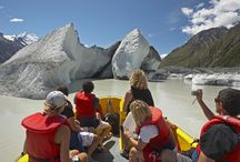 Glacier Explorers / An amazing encounter with New Zealand's largest glacier, the Tasman Glacier. Explore and learn about the ever-changing glacial landscape as you journey across the terminal lake in our custom-built MAC Boats with your experienced guides. The only tour of its kind in New Zealand and one of the only accessible glacial lakes containing icebergs in the world.