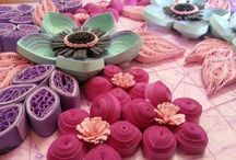 Quilled flowers / Paper flowers crafted with different quilling techniques